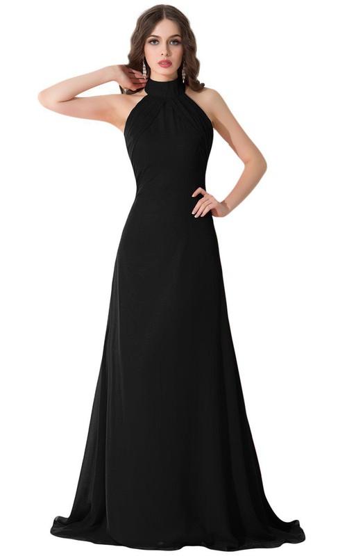 High Neck Sleeveless A-line Dress With Backless design