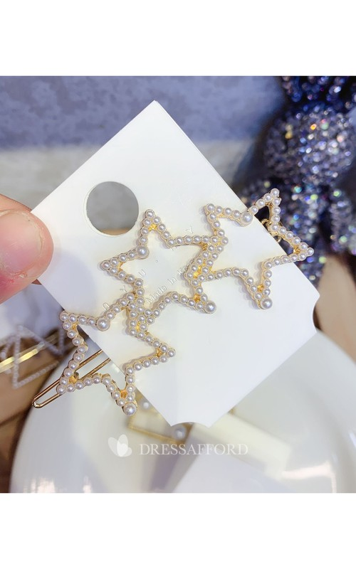 Chic And Bright Star Shape And Heart Shape Hair Clip