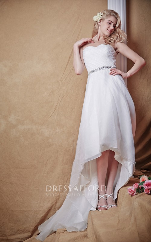 Hi-Low Modern-Classic Elements Sparkling Natural-Waist Dress
