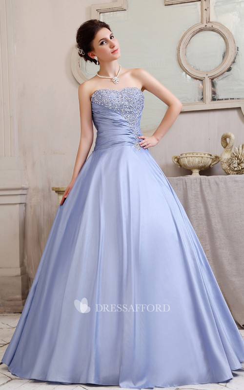 Fabulous Crystal A-Line Strapless Romantic Ball Gown