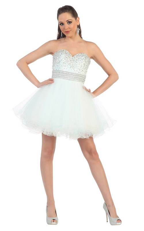 adorable Sweetheart A-line Tulle short Dress With Beading