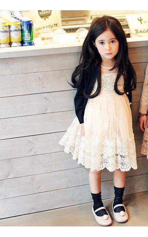 A-Line Sleeveless Arabella Tulle Flower Girl Dress