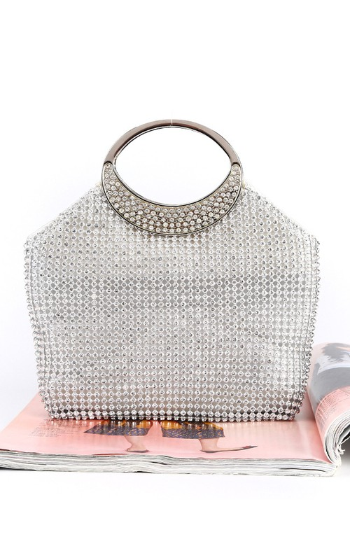 Crystal Clutch with Circle Handle