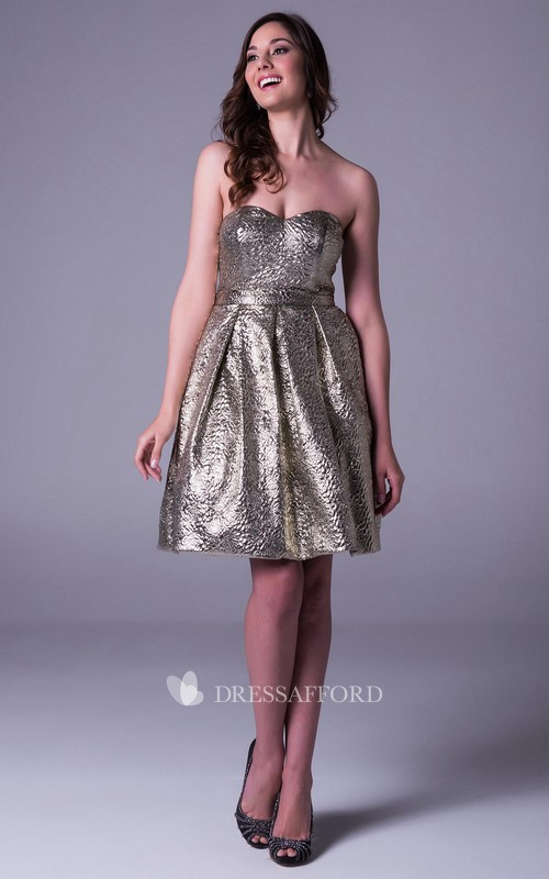A Line Sleeveless Sweetheart Short Mini Prom Dress
