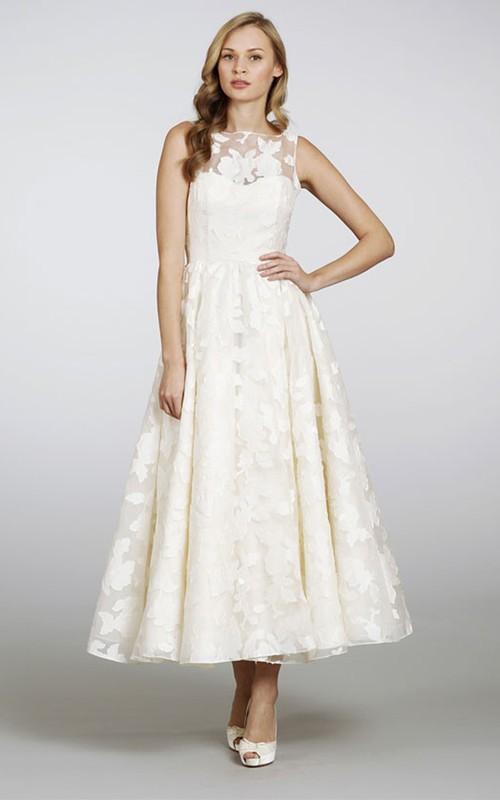 3-4-Length Keyhole Back Sleeveless Unique Dress