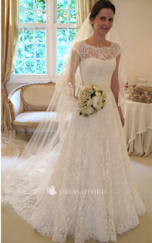 Princess Cap Sleeves Lace New-Arrival Dress