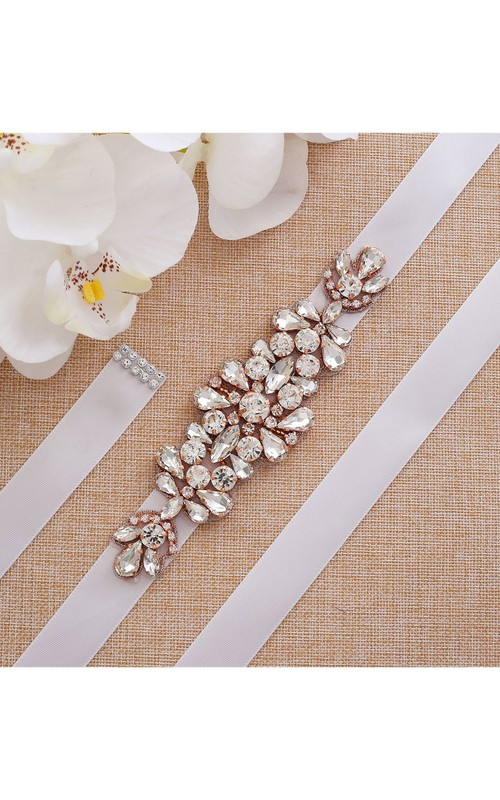 Bridal Rhinestone Appliqued Belt