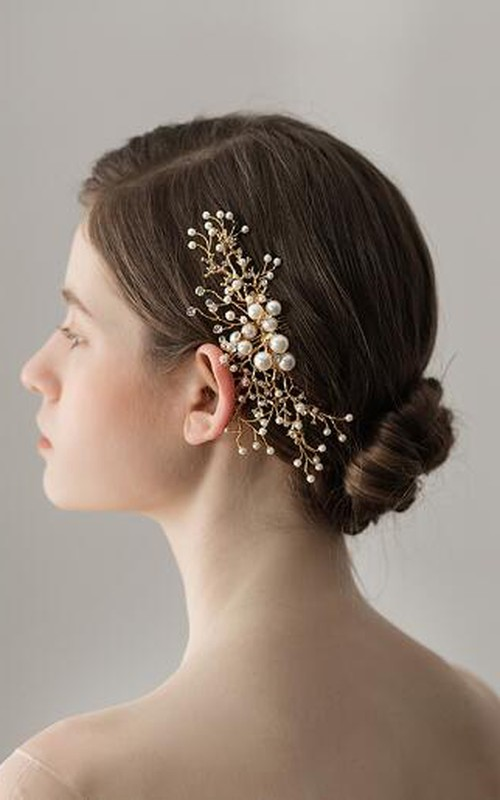 Forest Style Beaded Rhinestone Hair Combs
